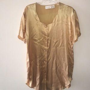 Vintage VS Gold Silk Night Shirt Gown